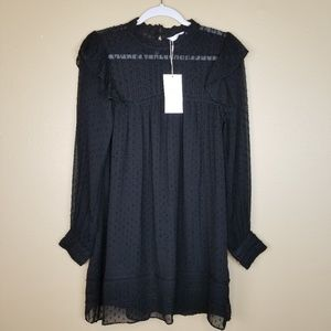 NWT ZARA TRAFALUC Black Lace Ruffle Dress SM A00.7